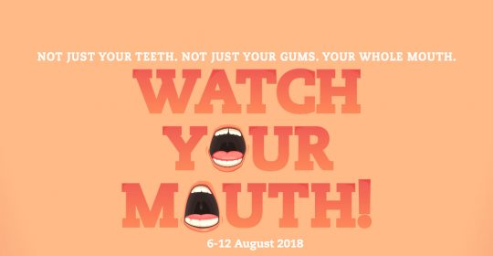 "What to Eat for a Healthy Smile this Dental Health Week 2018 – ""Watch Your Mouth"""