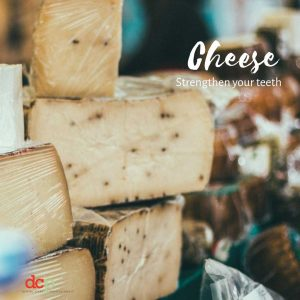 Dental Care Professionals says Cheese brighten teeth naturally