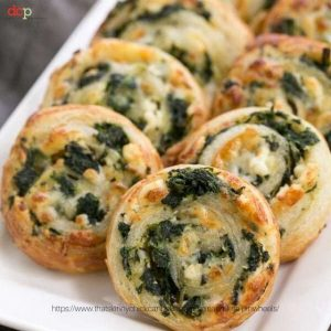 Spinach Feta Pinwheels from That Skinny Chick Can Bake