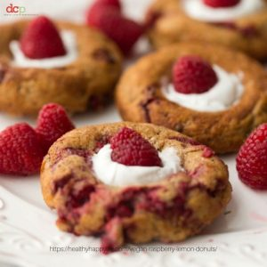 Raspberry Lemon Baked Donuts from Healthy Happy Life