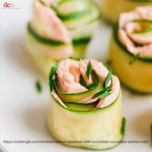Smoked Salmon Cucumber Rolls from  Cooking LSL