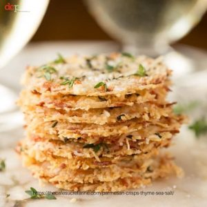 Parmesan Crisps with Thyme and Sea Salt from The Cafe Sucre Farine