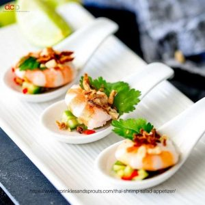 Thai Prawn Salad Spoons by Sprinkles and Sprouts